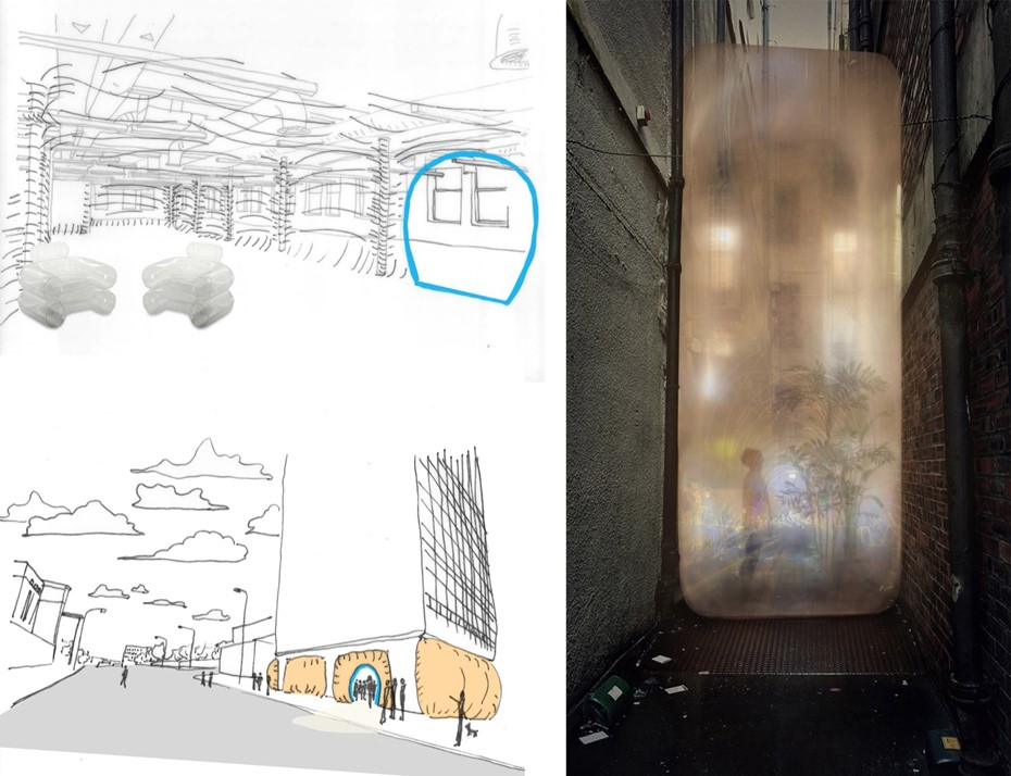 Pavilion Concept Sketches & Visualisation