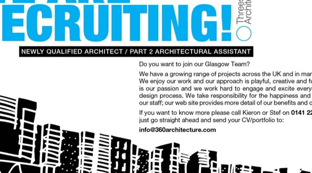 Our Glasgow studio is recruiting!